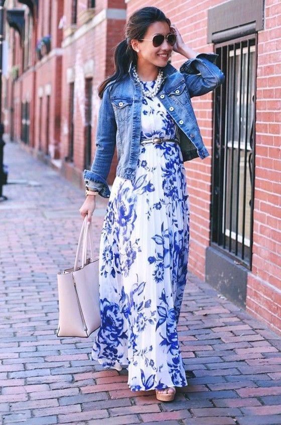 blue-maxi Church Outfits Ideas for Teenagers-17 Ways to Dress for Church