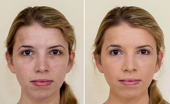 jane-iredale-bb-cream-before-and-after Healthy Cosmetic Brands-Top 15 Healthy and Organic Makeup Brands