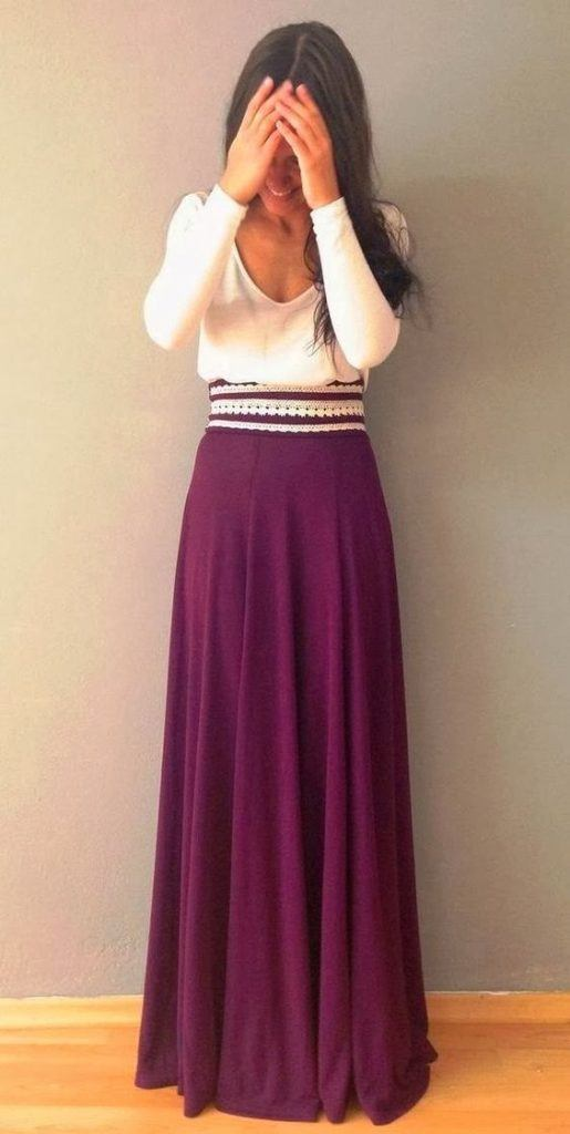 long-skirt-515x1024 Church Outfits Ideas for Teenagers-17 Ways to Dress for Church