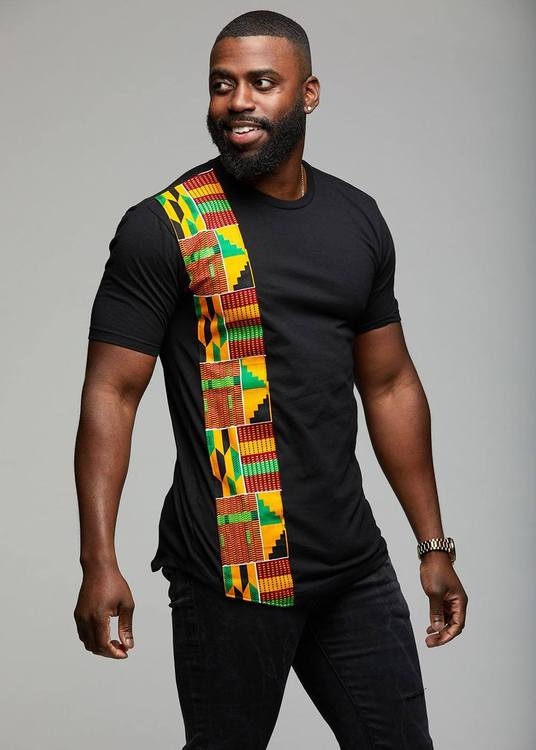 men-s-tops-sadik-african-print-short-sleeve-t-shirt-yellow-green-kente-1_750x750 Ankara Styles for Guys - 22 Best Ankara Outfits for Men 2019