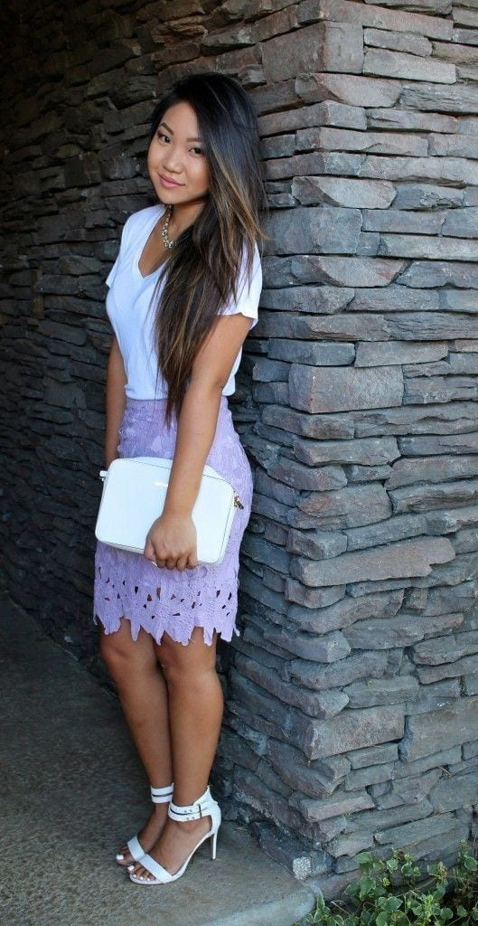 purple-skirt-529x1024 Church Outfits Ideas for Teenagers-17 Ways to Dress for Church
