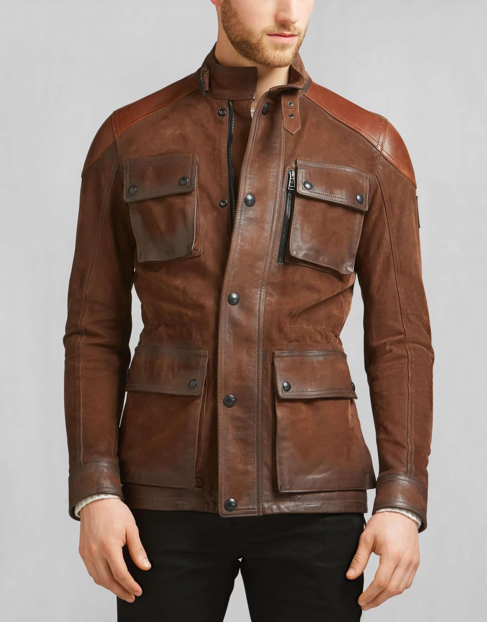 Belstaff-Trialmaster-Brown-Jacket Top Brands for Leather Jackets-15 Most Popular Brands 2019 for Men