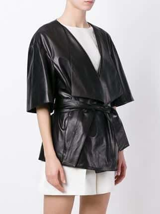 Drome-Belted-Kimono Top Women Leather Jacket Brands-15 Most Expensive Brands 2017