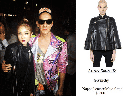 Givenchy-Leather-Cape Top Women Leather Jacket Brands-15 Most Expensive Brands 2017
