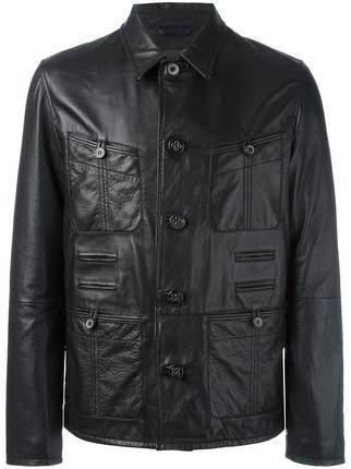 Lanvin-Grained-Effect-Jacket Top Brands for Leather Jackets-15 Most Popular Brands 2019 for Men