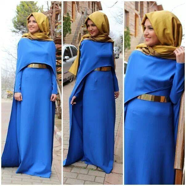 Royal-Blue-Long-Muslim-Lady-Evening-font-b-Dresses-b-font-font-b-Hijab-b-font 21 Prom Outfit Ideas with Hijab - How to Wear Hijab for Prom