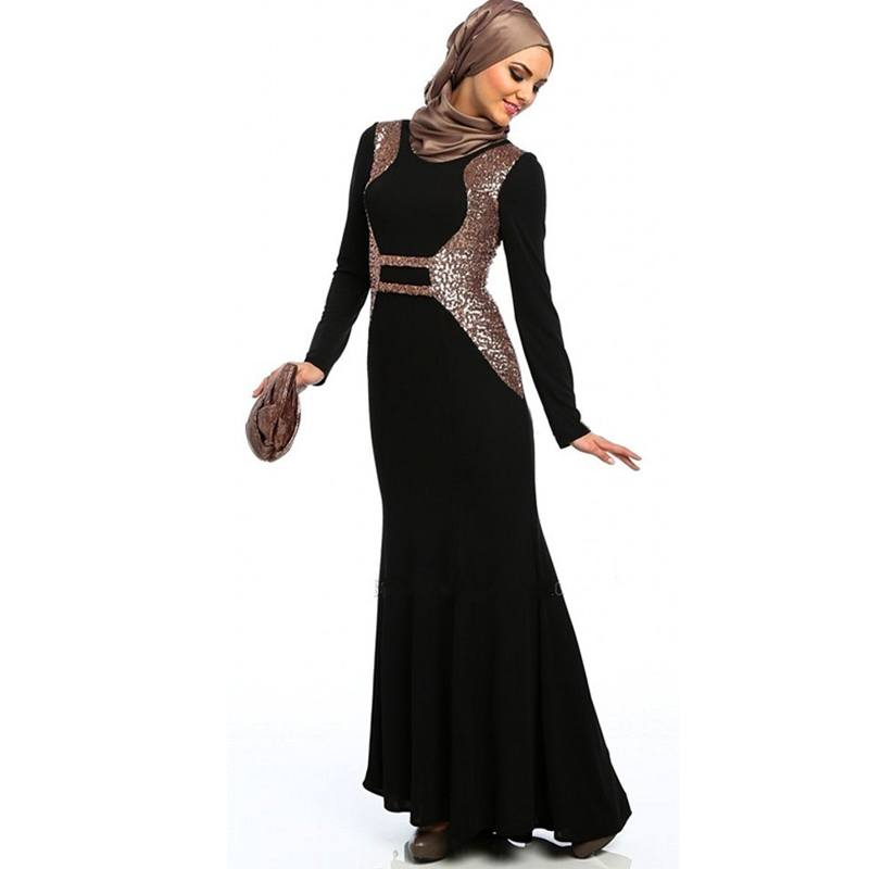 font-b-Fancy-b-font-Abayas-Dubai-Black-Women-Formal-Gown-Robe-De-Soiree-font-1 21 Prom Outfit Ideas with Hijab - How to Wear Hijab for Prom