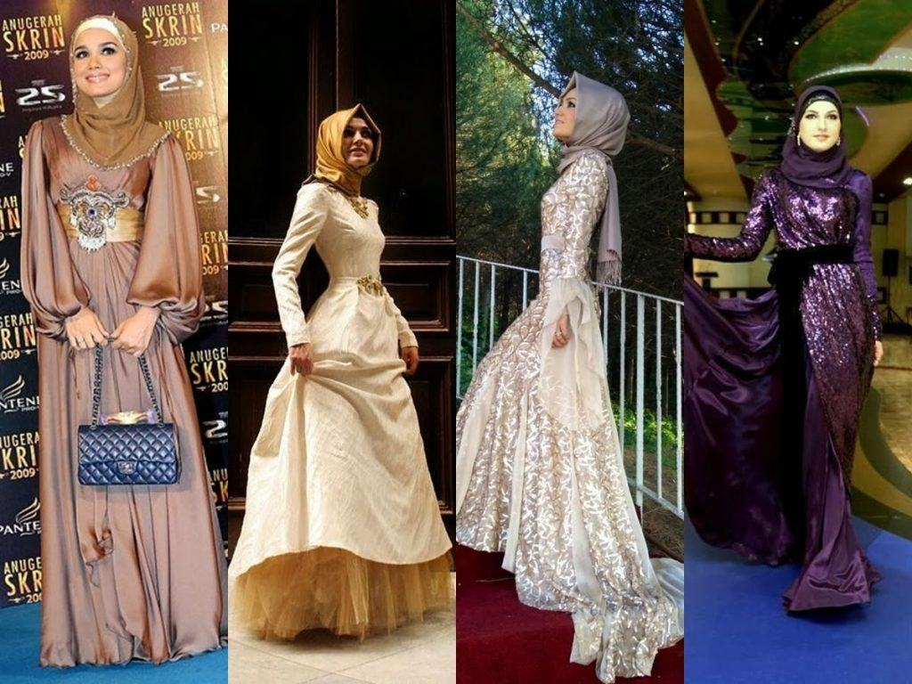 hijab-dresses-for-prom-6-1024x768 21 Prom Outfit Ideas with Hijab - How to Wear Hijab for Prom