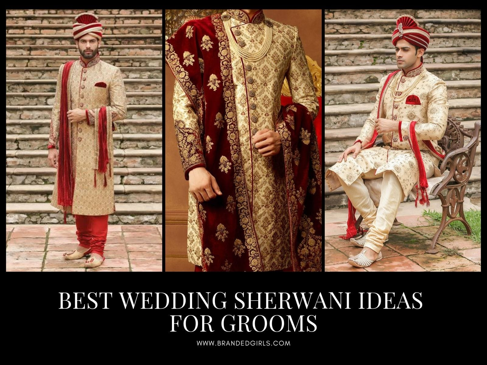 Best-Sherwani-Ideas-for-Grooms Wedding Sherwani Outfits - 20 Best Sherwani Ideas for Grooms