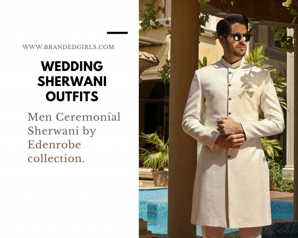 Edenrobe-1024x819 Wedding Sherwani Outfits - 20 Best Sherwani Ideas for Grooms