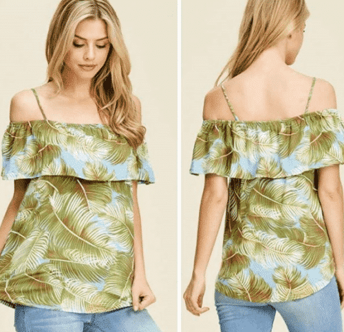 Off-the-shoulder-top-for-a-road-trip-500x484 Road Trip Essentials–20 Best Outfits For Traveling in Summers