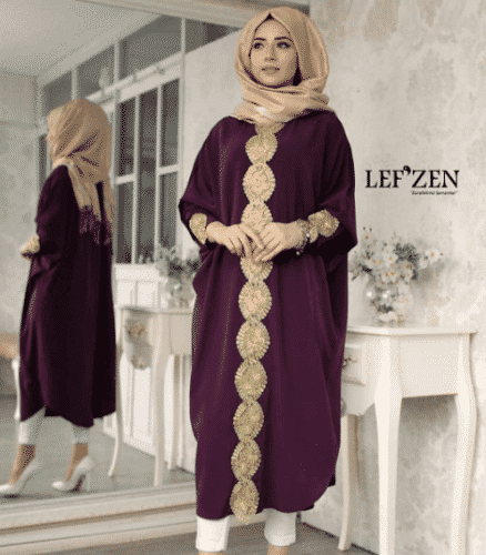 Turkish-abaya-17-438x500 Turkish Abaya Fashion - 20 Ways to Wear Turkish Style Abaya