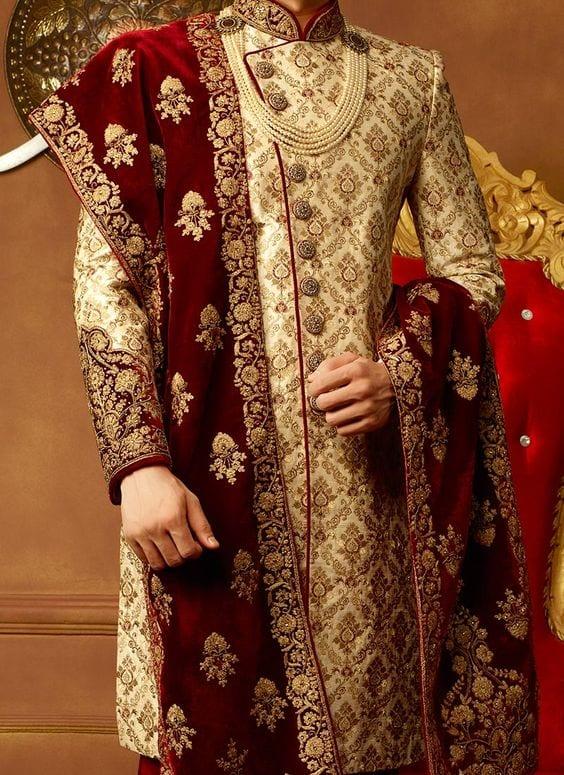 Wedding-3 Wedding Sherwani Outfits - 20 Best Sherwani Ideas for Grooms