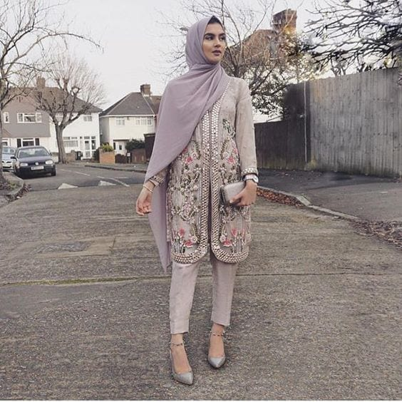 11-Hijab-pastel-purple 30 Ways to Wear Hijab with Indian Ethnic Wear
