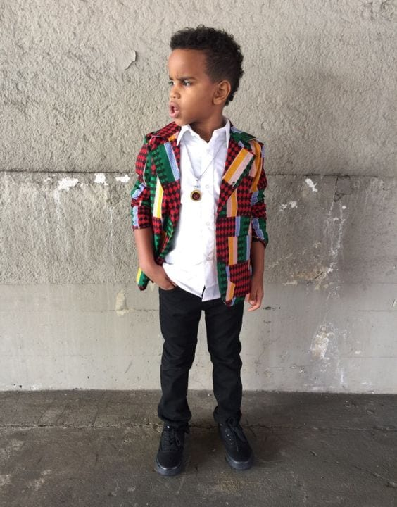 Ankara-Blazers-for-Baby-Boys Cute African Outfits- 20 Modern African Outfits for Children