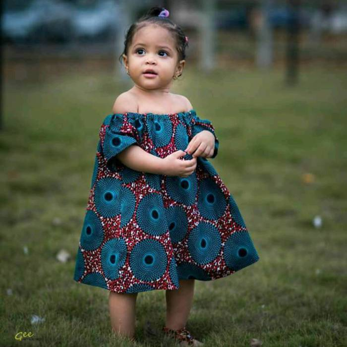 Ankara-Frocks-for-Little-Princesses Cute African Outfits- 20 Modern African Outfits for Children