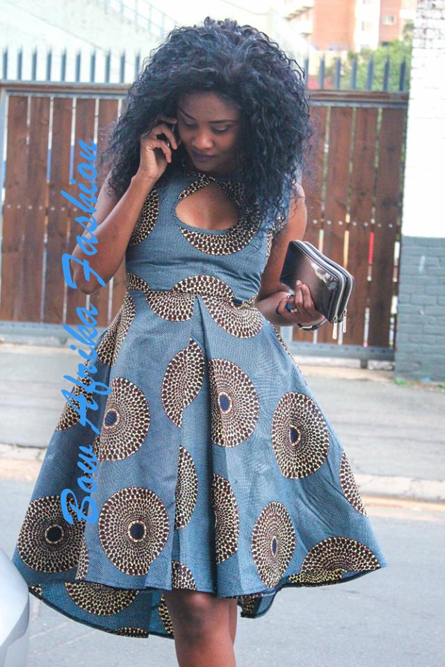 Ankara-Street-Style-Outfit Bow Afrika Clothes- Top 30 Chic Bow Afrika Outfits for Women