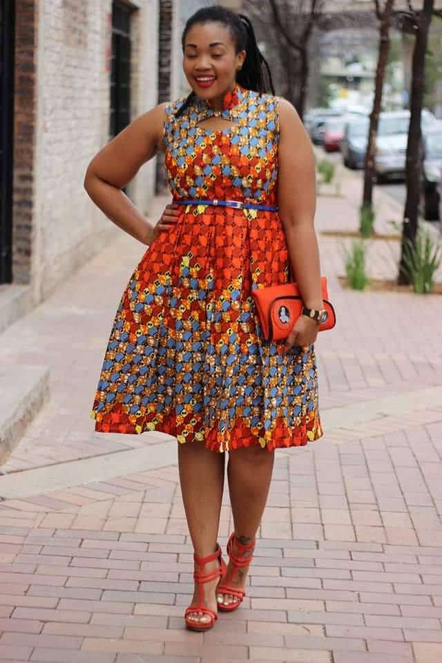 Bow-African-Belt-Style-Frocks Bow Afrika Clothes- Top 30 Chic Bow Afrika Outfits for Women