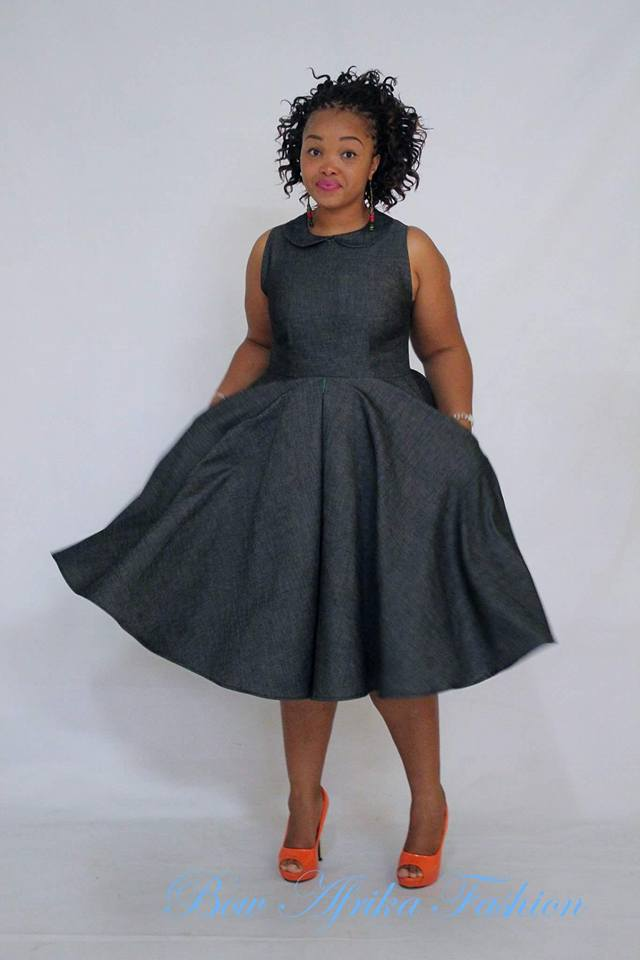 Charcoal-Black-Dress-by-Bow-Afrika Bow Afrika Clothes- Top 30 Chic Bow Afrika Outfits for Women