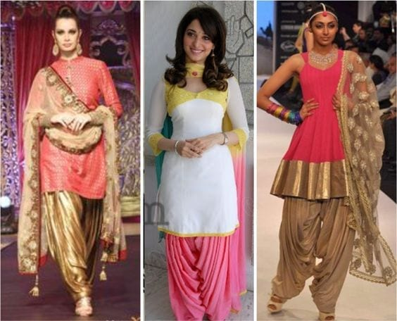 Cutting-of-Patiala-Shalwar Classy Patiala Outfits-34 Amazing Ways to Wear Patiala Salwar