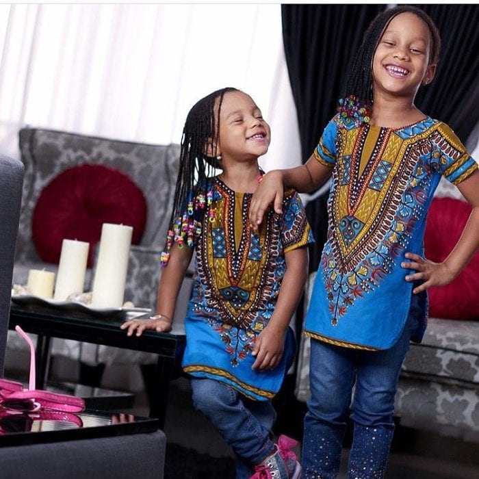 Dashiki-Tops-for-Baby-Girls 20 Modern African Outfits for Children - African Dress for Kids