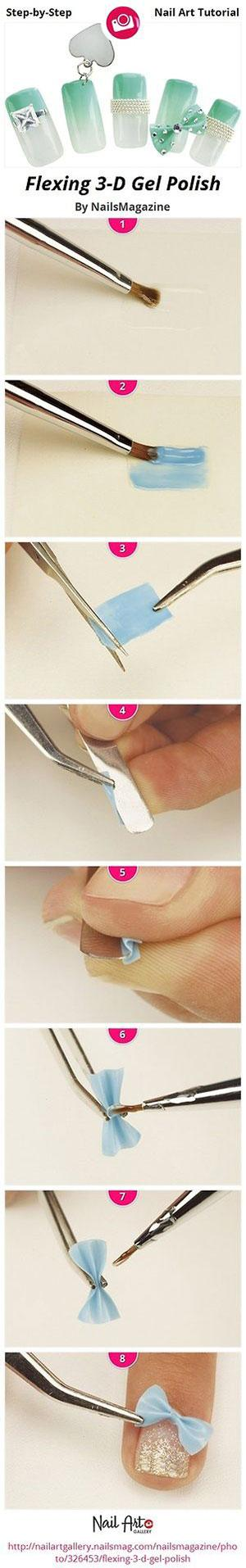 Easy-Simple-Step-By-Step-Gel-Nail-Art-Tutorials-For-Beginners-Learners-2014-10 How to Get Gel Nails- 20 Ideas and Tutorial for Gel Nail Art