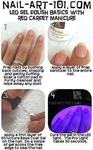 Easy-Simple-Step-By-Step-Gel-Nail-Art-Tutorials-For-Beginners-Learners-2014-2 How to Get Gel Nails- 20 Ideas and Tutorial for Gel Nail Art