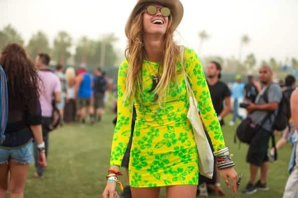 Fitted-Lemon-Short-Dress Funky Festival Outfits - 30 Funky Outfits for Girls to Wear