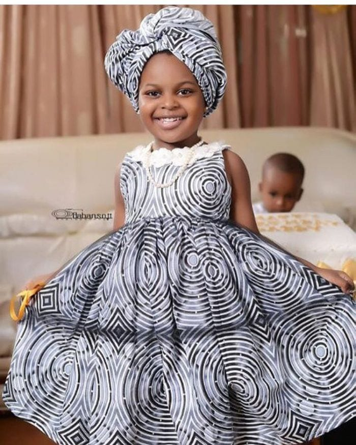 Gele-Style-Outfits-for-Kids 20 Modern African Outfits for Children - African Dress for Kids