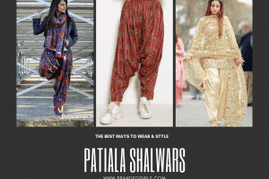 different ways to wear patiala salwar