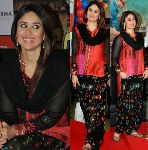 Kareena-Kapoors-Patiala-Shalwar-Attire Classy Patiala Outfits-34 Amazing Ways to Wear Patiala Salwar