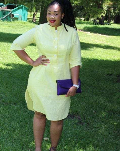 Lemon-Simple-Top-Style-Dress Bow Afrika Clothes- Top 30 Chic Bow Afrika Outfits for Women