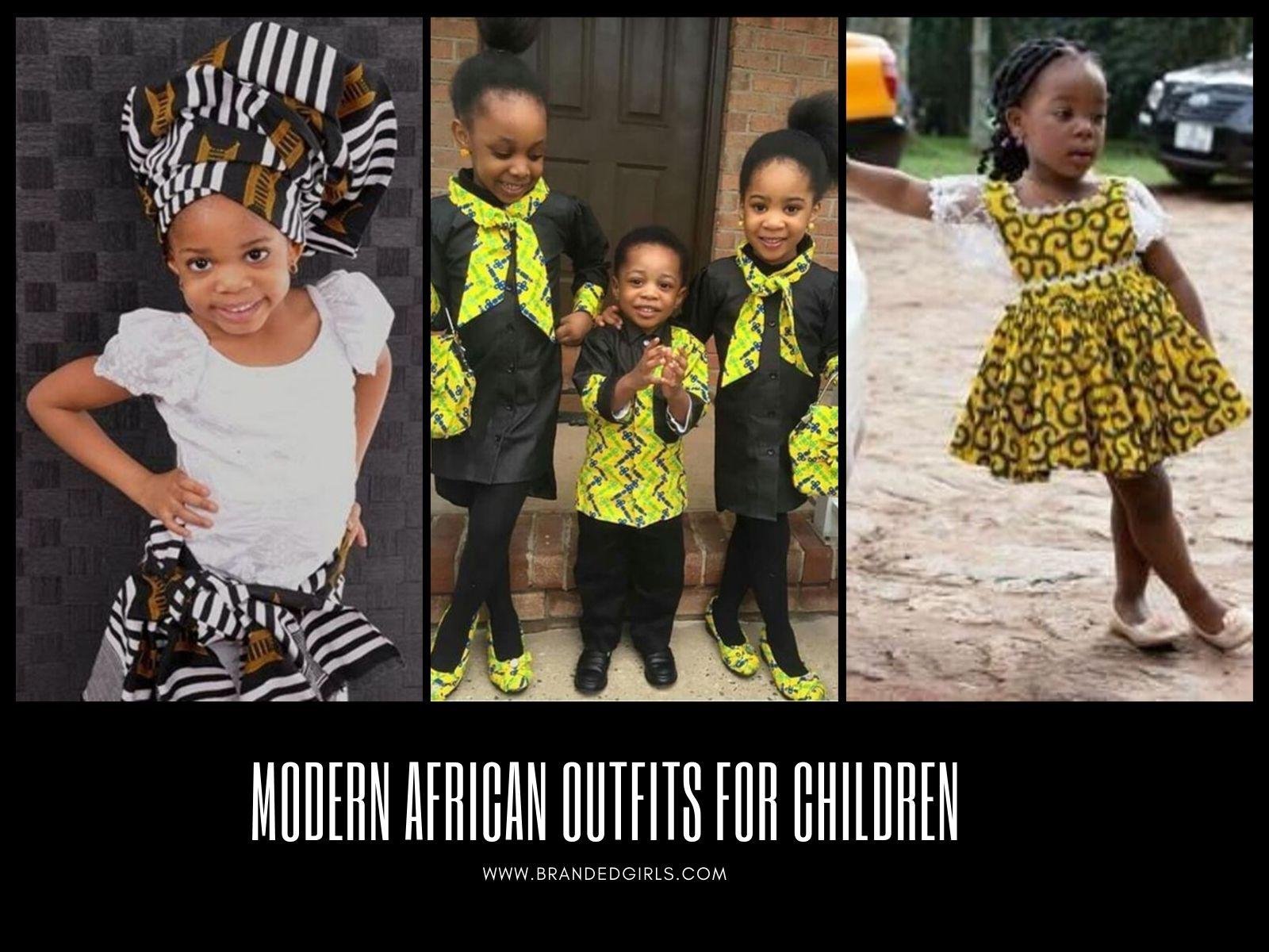 Modern-African-Outfits-for-Children 20 Modern African Outfits for Children - African Dress for Kids