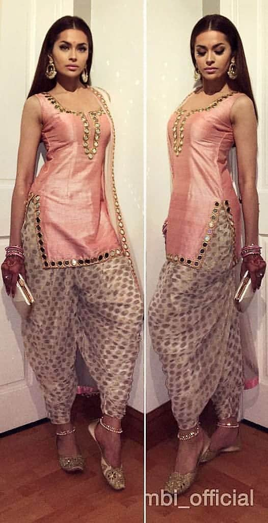 Pastel-Patiala-Shalwar-Kameez-Attire Classy Patiala Outfits-34 Amazing Ways to Wear Patiala Salwar