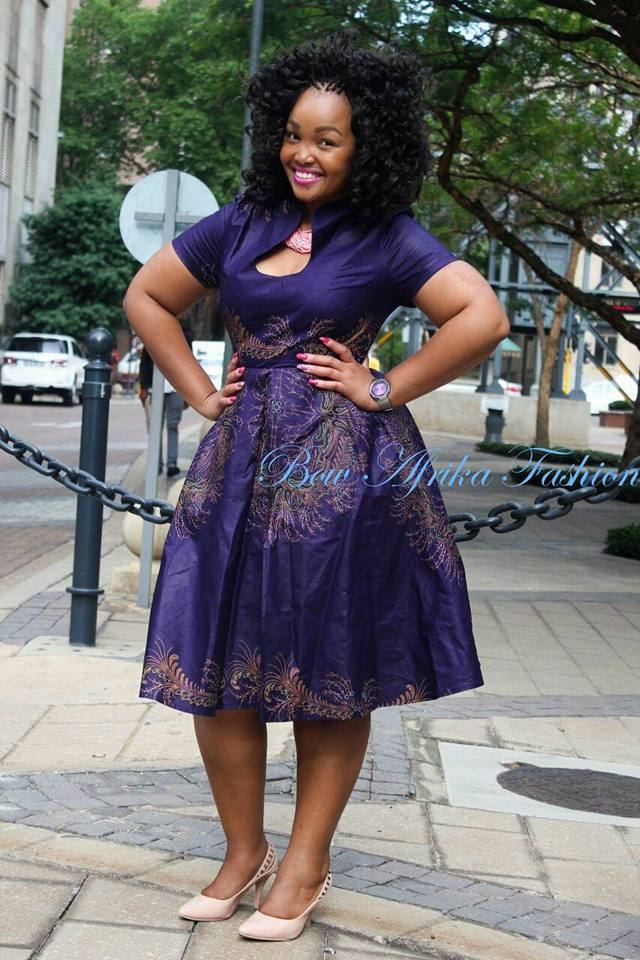 Purple-Formal-Dress Bow Afrika Clothes- Top 30 Chic Bow Afrika Outfits for Women