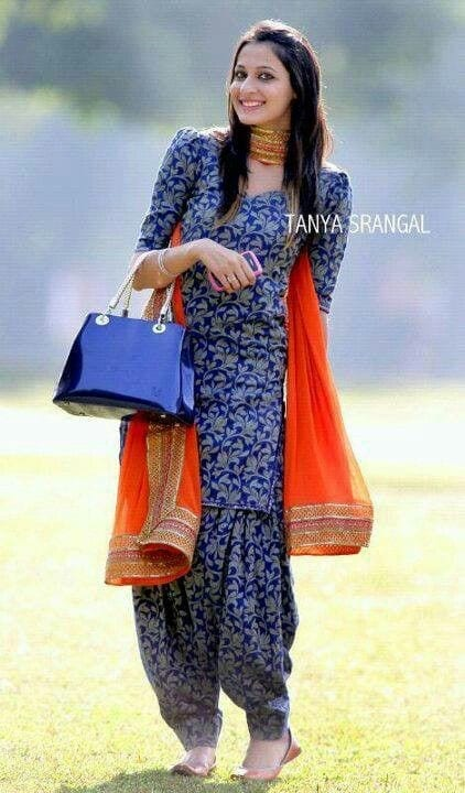 Traditional-Patiala-Dresses Classy Patiala Outfits-34 Amazing Ways to Wear Patiala Salwar
