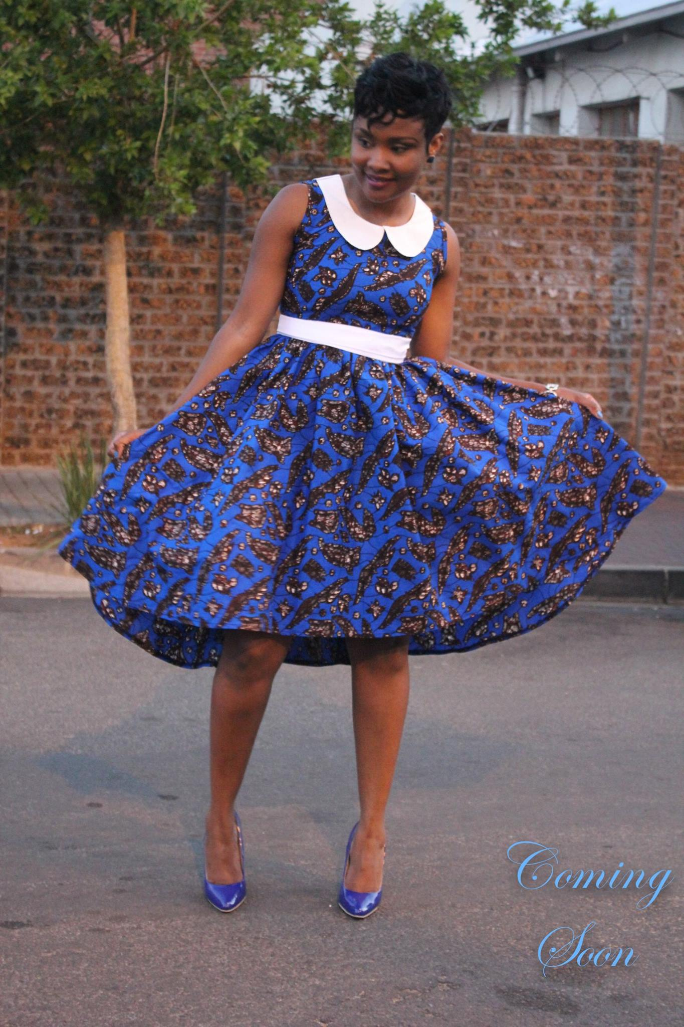 White-Collar-and-Belt-Frock Bow Afrika Clothes- Top 30 Chic Bow Afrika Outfits for Women