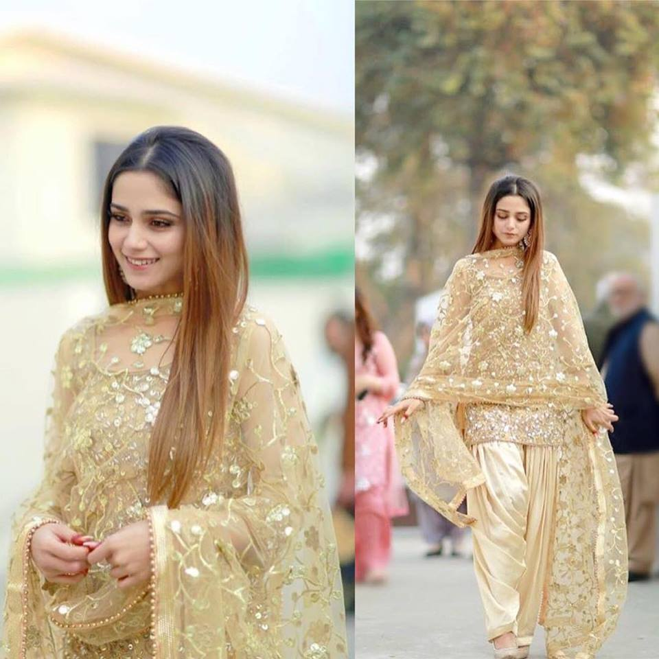 aima-baig-patiala-shalwar Classy Patiala Outfits-34 Amazing Ways to Wear Patiala Salwar