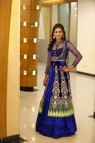 blue-lacha-outfit-for-weding-guest-333x500 Punjabi Lacha Outfit Ideas - 30 Ways to Wear Lacha for Girls