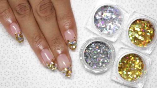 gel-nails-with-glitter-500x281 How to Get Gel Nails- 20 Ideas and Tutorial for Gel Nail Art