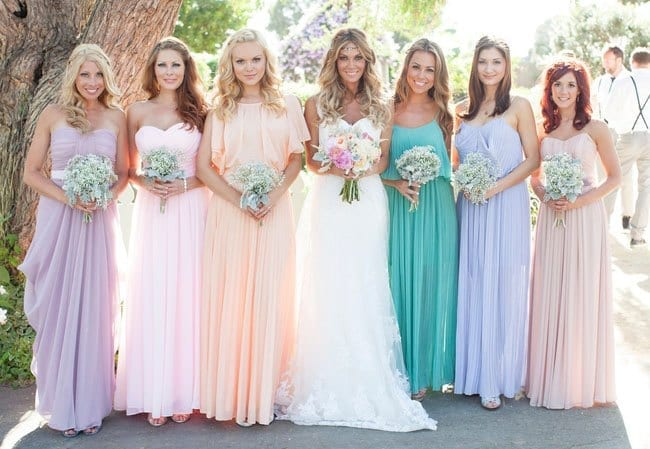 Classy-Long-Bridesmaid-Outfits Funky Outfits for Wedding-30 Funky Styles for Wedding Guests