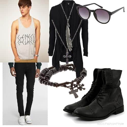 Funky-Rockstar-Outfit 30 Funky Outfits for Guys Trending These Days