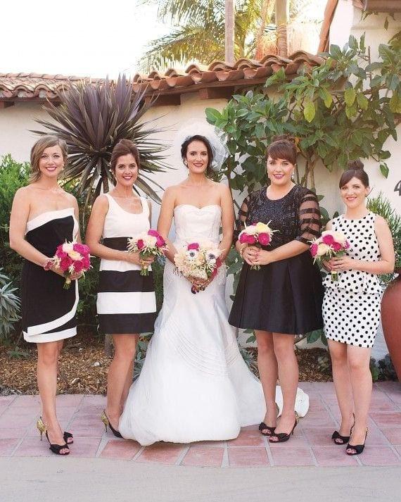Monotone-Funky-Outfits-for-Weddings Funky Outfits for Wedding-30 Funky Styles for Wedding Guests