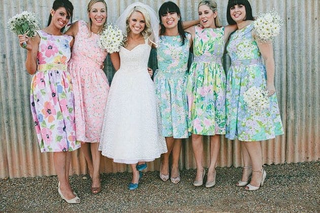 Retro-Outfits-for-Bridesmaids Funky Outfits for Wedding-30 Funky Styles for Wedding Guests