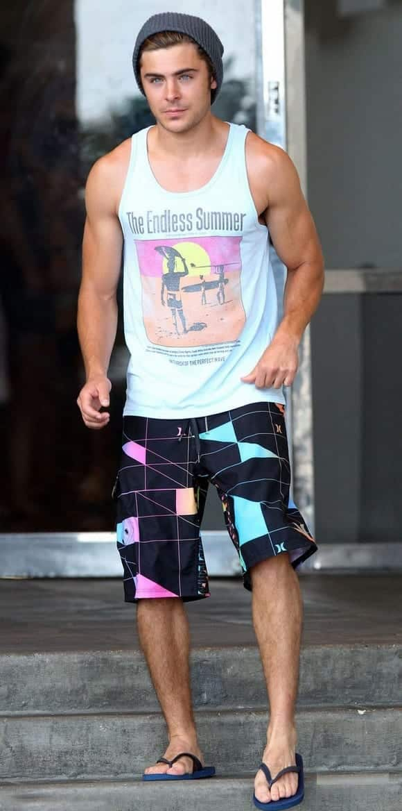 Zac-Efrons-Funky-Look 30 Funky Outfits for Guys Trending These Days