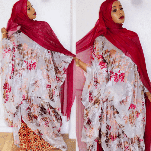 floral-african-outfit-with-hijab-500x498 Hijab with Floral Outfits-20 Ways to Wear Hijab with Florals