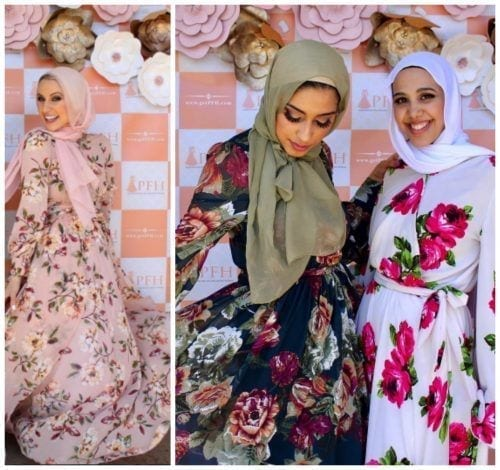 floral-dresses-with-hijab-500x470 Hijab with Floral Outfits-20 Ways to Wear Hijab with Florals