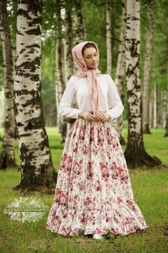 floral-outfit-with-printed-hijab-333x500 Hijab with Floral Outfits-20 Ways to Wear Hijab with Florals