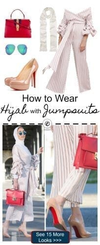 how-to-wear-hijab-with-jumpsuits-204x500 Hijab with Jumpsuits - 16 Ways to Wear Jumpsuit with Hijab