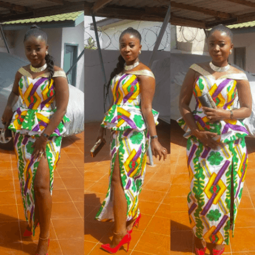 kaba-and-slit-outfit-500x500 Ghanaian Women Kaba and Slit- 20 Beautiful Kaba Outfit Ideas